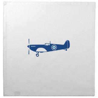 World War 2 Fighter Plane Spitfire Retro Napkin