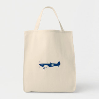 World War 2 Fighter Plane Spitfire Retro Tote Bag
