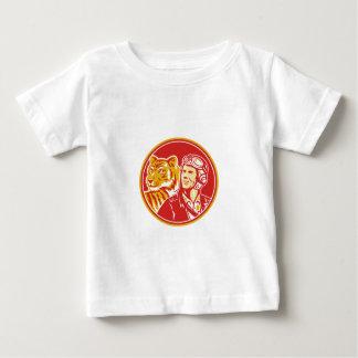World War 2 Pilot Airman Tiger Circle Retro Baby T-Shirt