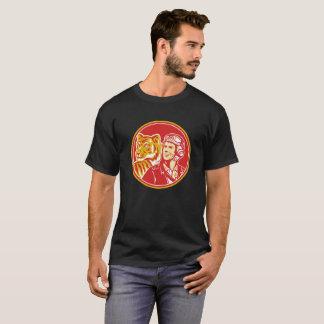 World War 2 Pilot Airman Tiger Circle Retro T-Shir T-Shirt