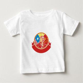 World War 2 Pilot USA China Flag Circle Retro Baby T-Shirt