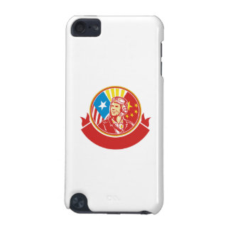 World War 2 Pilot USA China Flag Circle Retro iPod Touch (5th Generation) Cases
