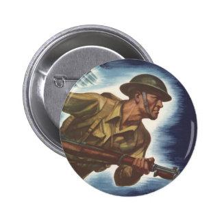 World War 2 Soldier 2 Inch Round Button