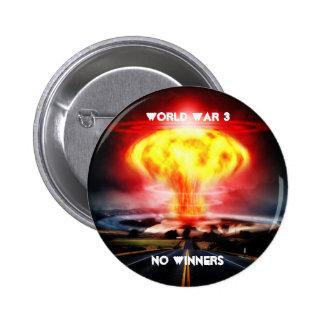 World War 3 No Winners 2 Inch Round Button