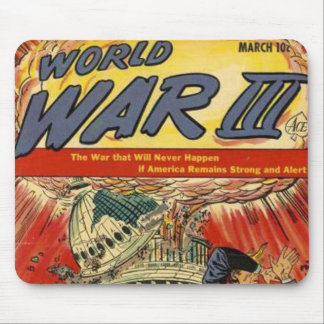 World War 3 Vintage comic book Mouse Pad