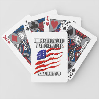World War Champions Bicycle Poker Cards