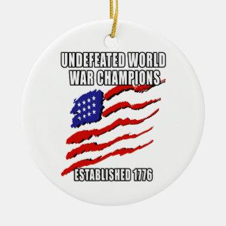 World War Champions Round Ceramic Ornament