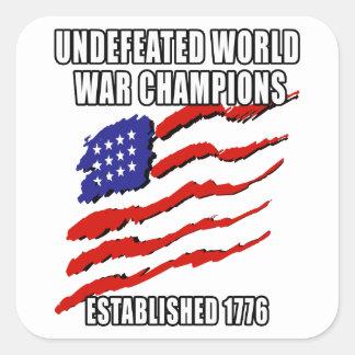 World War Champions Square Sticker