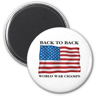 World War Champs 2 Inch Round Magnet