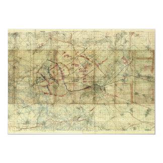 "World War I Battle of the Canal du Nord Battle Map 5"" X 7"" Invitation Card"