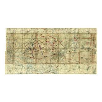World War I Battle of the Canal du Nord Battle Map Customized Photo Card