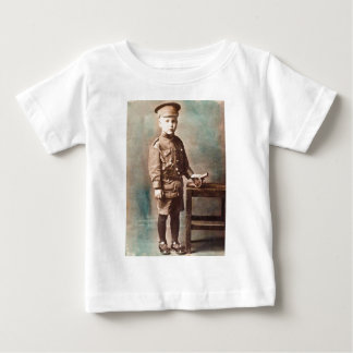 World War I Boy and Toy Cannon Hand Tinted Tee Shirt