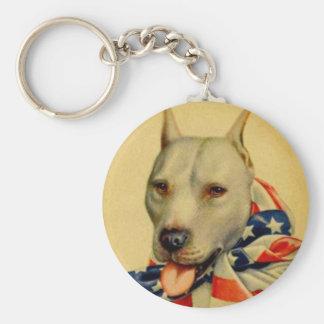 World War I Bull Dog Basic Round Button Keychain