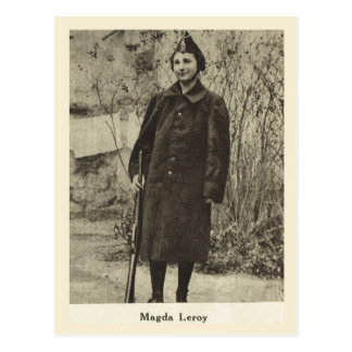 World War I, France,  Young French female soldier Postcard