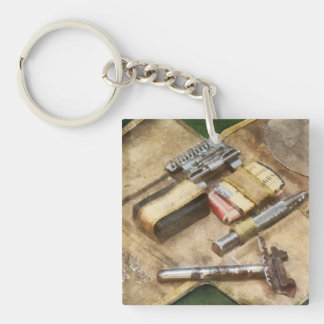 World War I Shaving Kit Double-Sided Square Acrylic Keychain