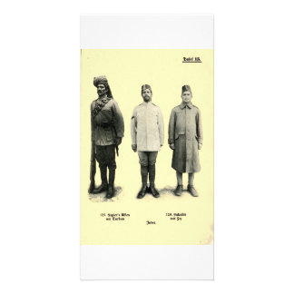 World War I Uniforms from India Customized Photo Card