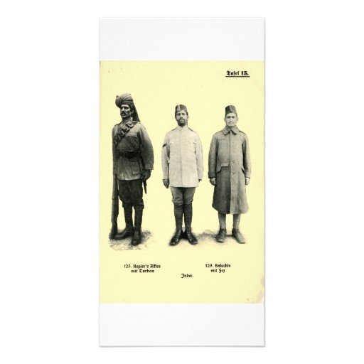 World War I Uniforms from India Photo Card