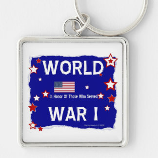 World War I Vets - In Honor Silver-Colored Square Keychain