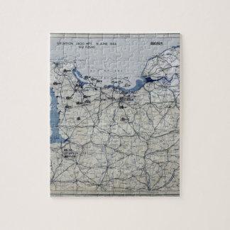 World War II D-Day Map June 6, 1944 Jigsaw Puzzle