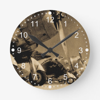 World War II Douglas SBD Dauntless Bomber Planes Round Clock