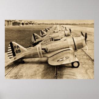 World War II Fighter Planes Severski P-35s Poster