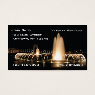 World War II Memorial Business Card