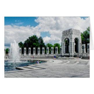 World War II Memorial ---- Note card