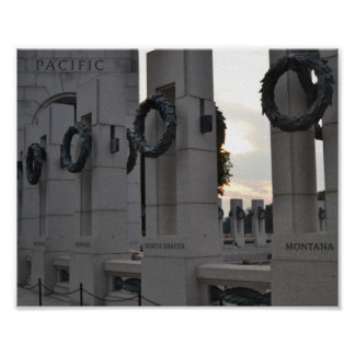 World War II Memorial 'Pacific' Poster