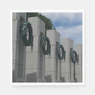 World War II Memorial Wreaths I Napkin