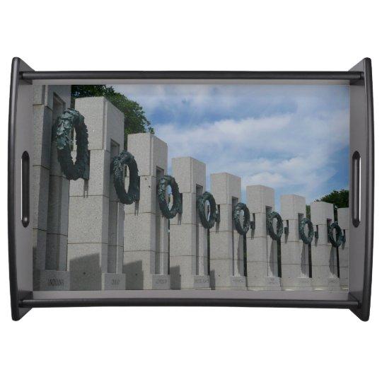 World War II Memorial Wreaths I Serving Tray