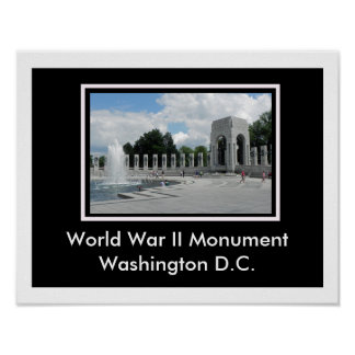 World War II Monument Poster
