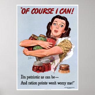 World War II Patriotism Poster