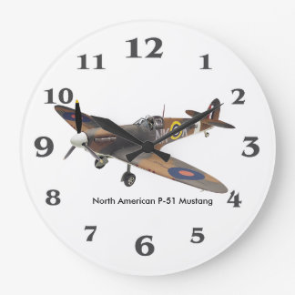 World War ll Aircraft for Round (Large) Wall Clock