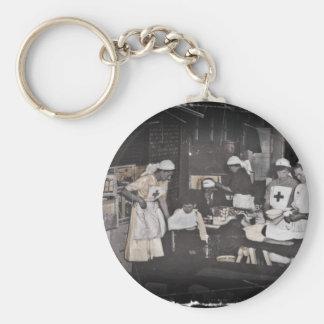 World War One Nurses Aid Station Basic Round Button Keychain
