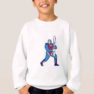 World War One Pilot Holding Propeller Retro Sweatshirt