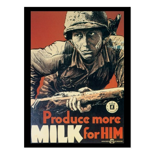 World War Postcards, US Dairy Assoc. Postcard