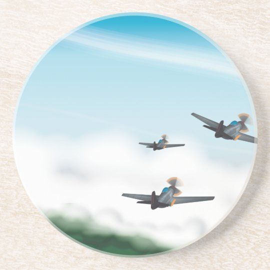World War Two Aeroplanes Coaster