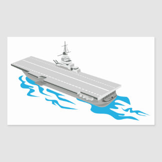 World War Two Aircraft Carrier Retro Sticker