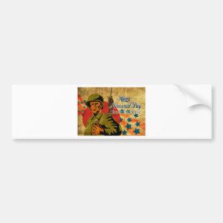 World War Two American soldier vintage Bumper Sticker