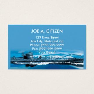world war two german uboat submarine business card