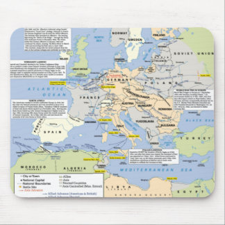 World War Two in Europe Mousemat Mouse Pad