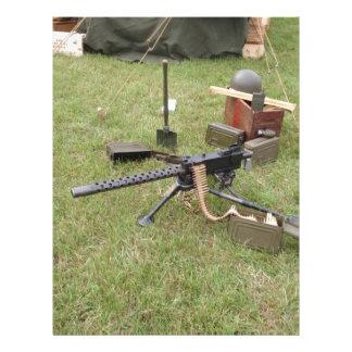 World War Two Machine Gun Customized Letterhead