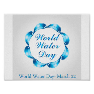 World water day March 22 Poster