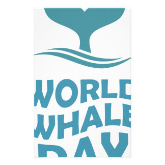 World Whale Day - 18th February - Appreciation Day Stationery