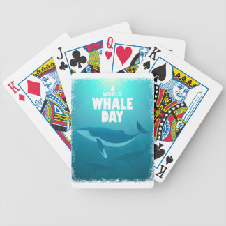 World Whale Day - Appreciation Day Bicycle Playing Cards