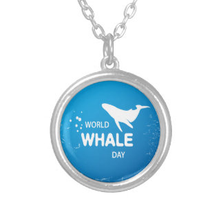 World Whale Day - Appreciation Day Silver Plated Necklace