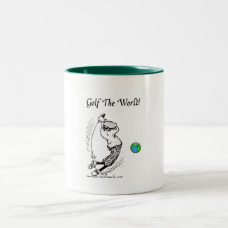 World Wide Two-Tone Coffee Mug