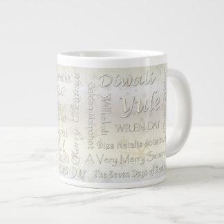World Wide Winter Holidays - Typography #1 Large Coffee Mug