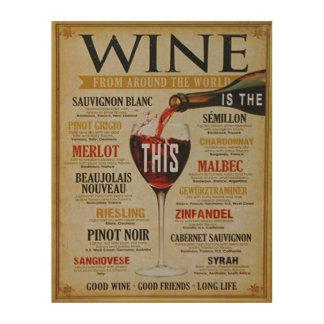 World Wines Wood Wall Art