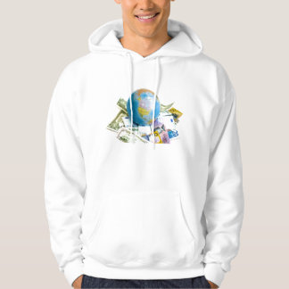 world with money hoodie